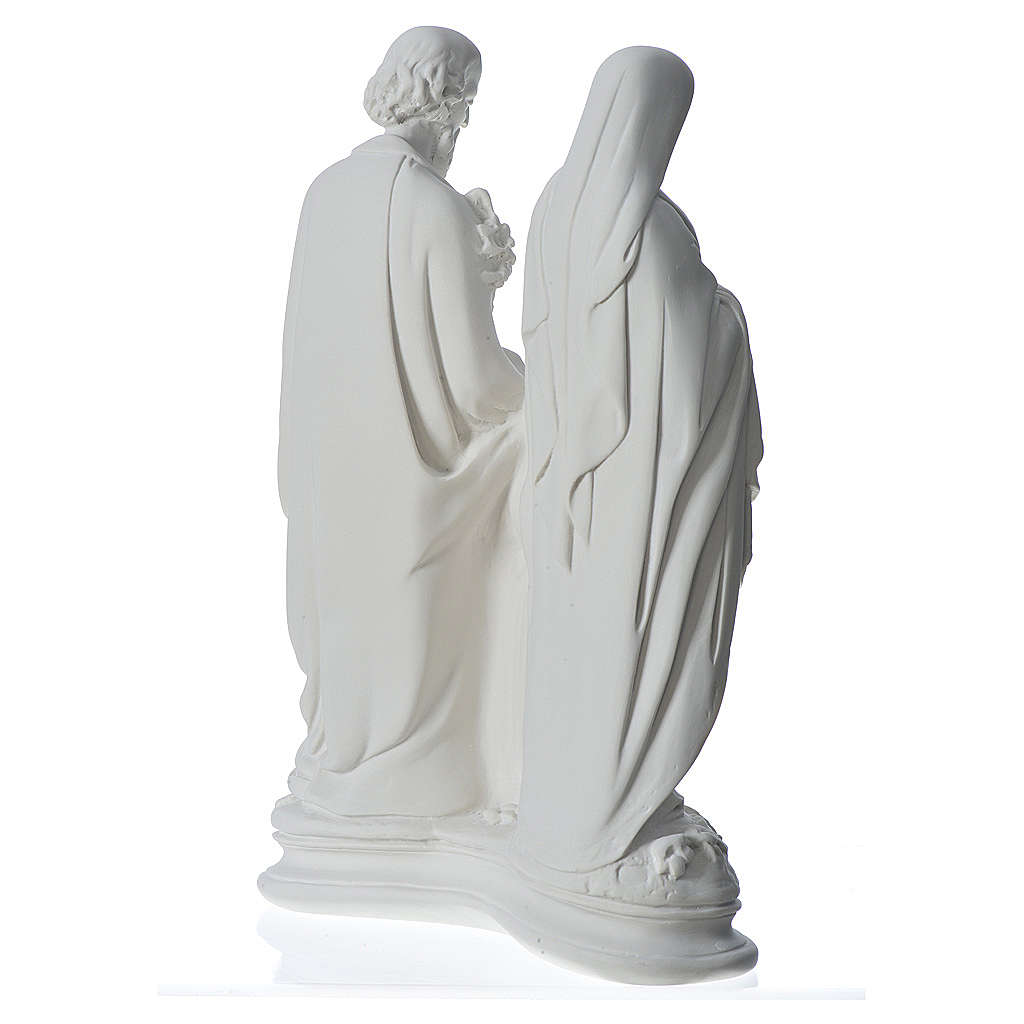 Holy Family statue in composite marble, 40 cm 4