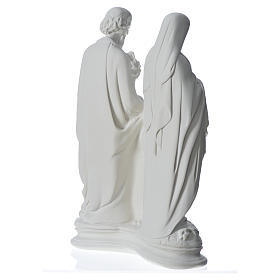 Holy Family statue in composite marble, 40 cm s8