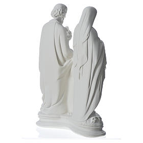 Holy Family statue in composite marble, 40 cm s4