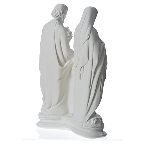 Holy Family statue in composite marble, 40 cm 8