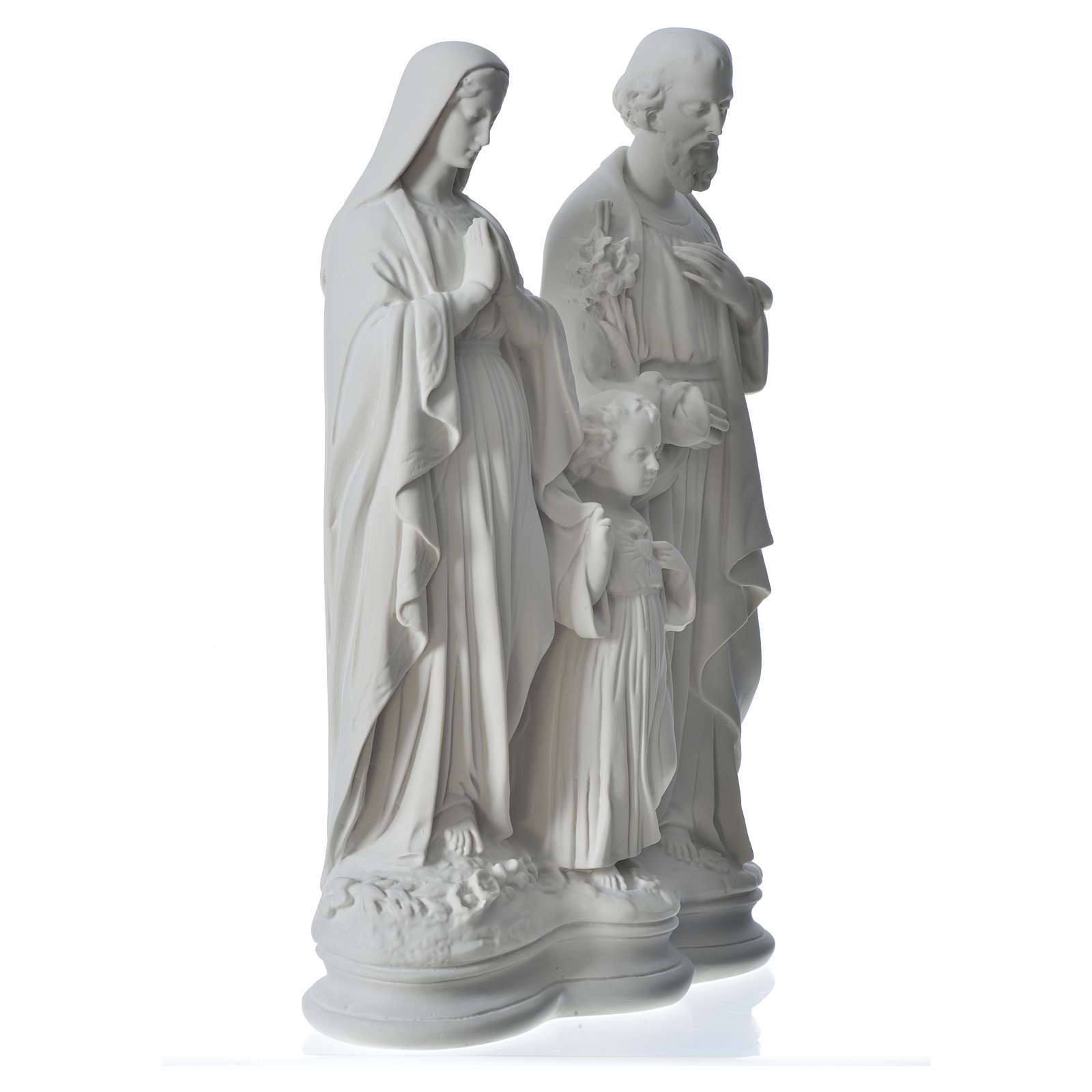 Holy Family statue in reconstituted marble, 40 cm 4