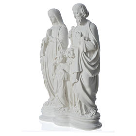 Holy Family statue in reconstituted marble, 40 cm s2