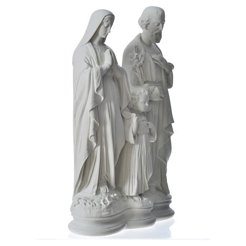 Holy Family statue in reconstituted marble, 40 cm 7