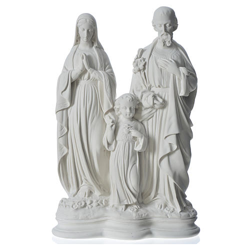 Holy Family statue in reconstituted marble, 40 cm 1