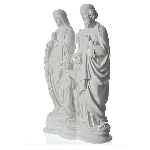 Holy Family statue in reconstituted marble, 40 cm 2