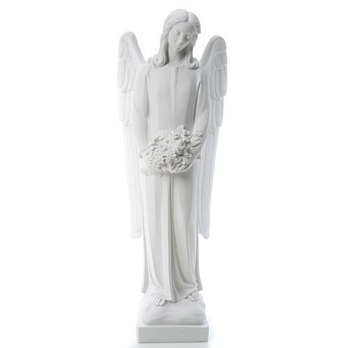 Angelo gettafiori 80 cm marmo bianco 1