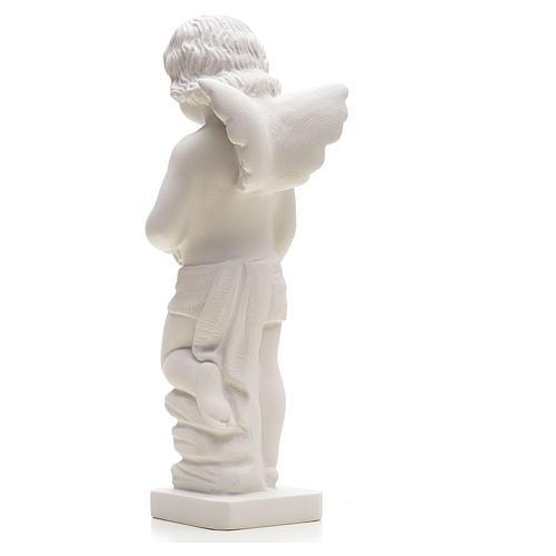 Statue Ange avec fleurs marbre reconstitué 25-30 cm 2