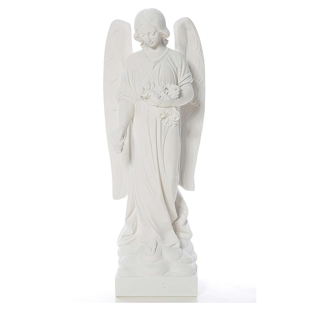 Gettafiori angelo marmo bianco di Carrara 40-60 cm 4