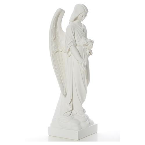 Gettafiori angelo marmo bianco di Carrara 40-60 cm 8