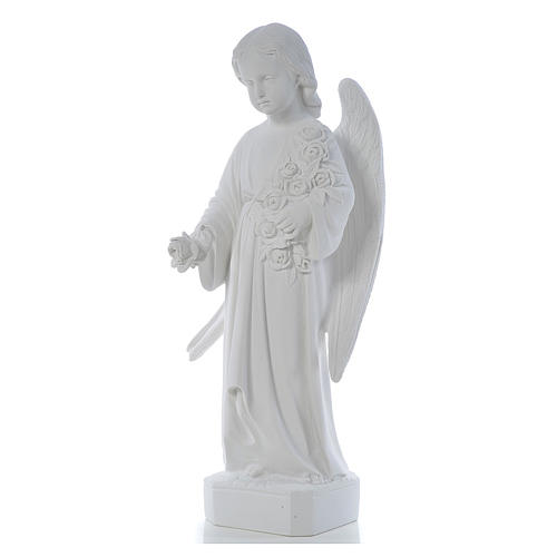 Angel with long wings, 60 cm statue in reconstituted marble 2
