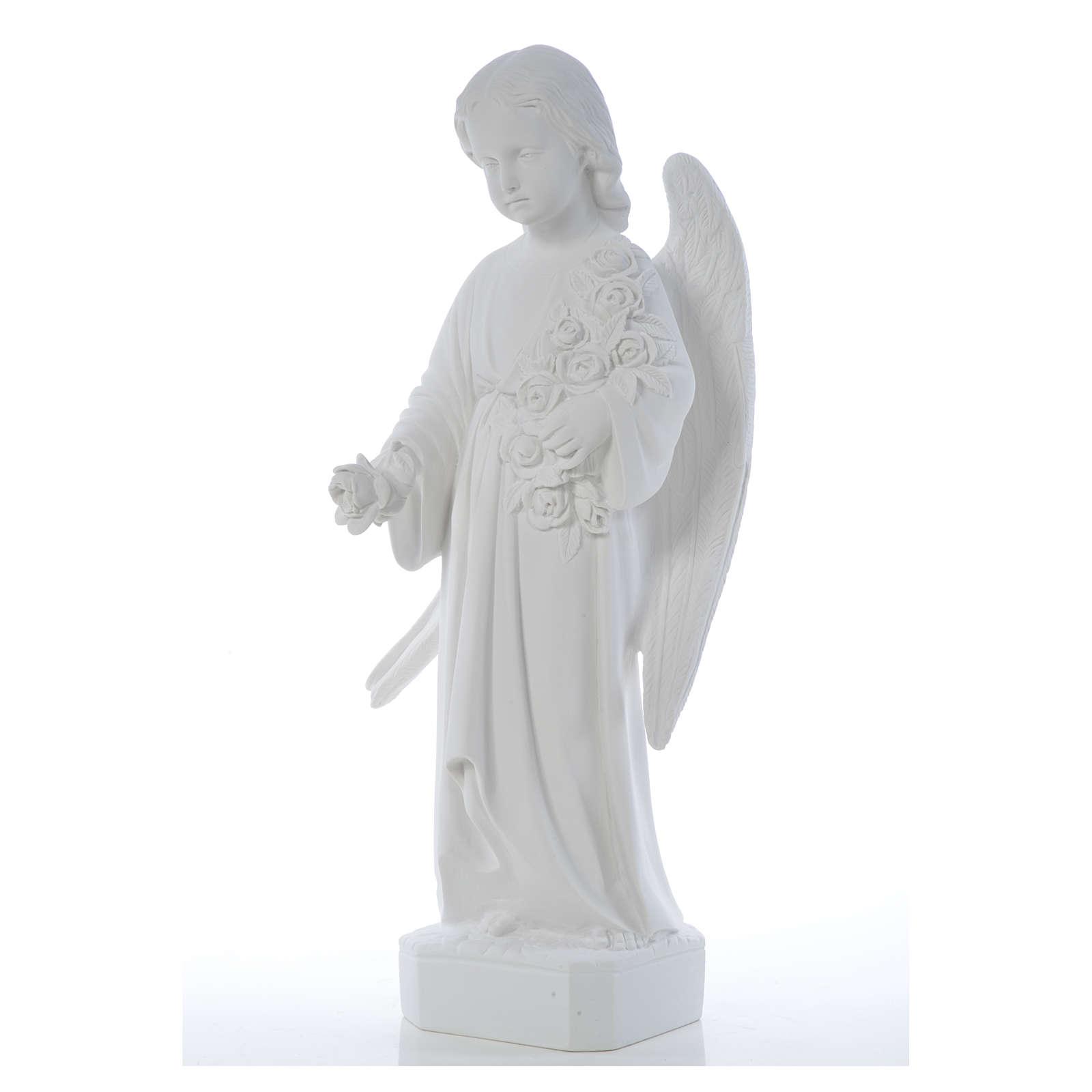 Angelo ali lunghe 60 cm marmo bianco 4