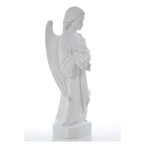 Angelo ali lunghe 60 cm marmo bianco 8