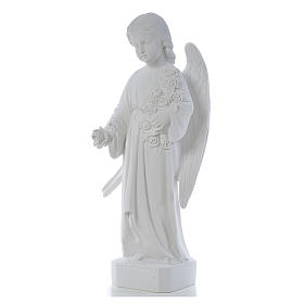Angel with long wings, 60 cm statue in composite marble s2