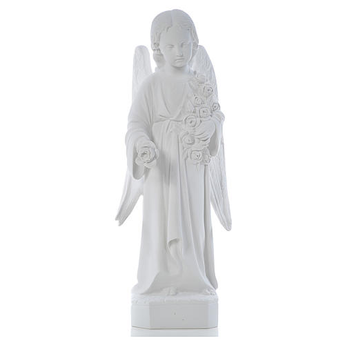 Angel with long wings, 60 cm statue in composite marble 1
