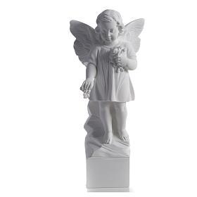 Angelo gettafiori 40 cm polvere di marmo s4