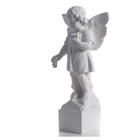 Angelo gettafiori 40 cm polvere di marmo s6