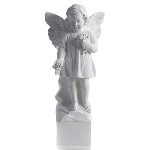 Angelo gettafiori 40 cm polvere di marmo 1
