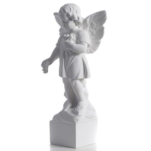 Angelo gettafiori 40 cm polvere di marmo 3