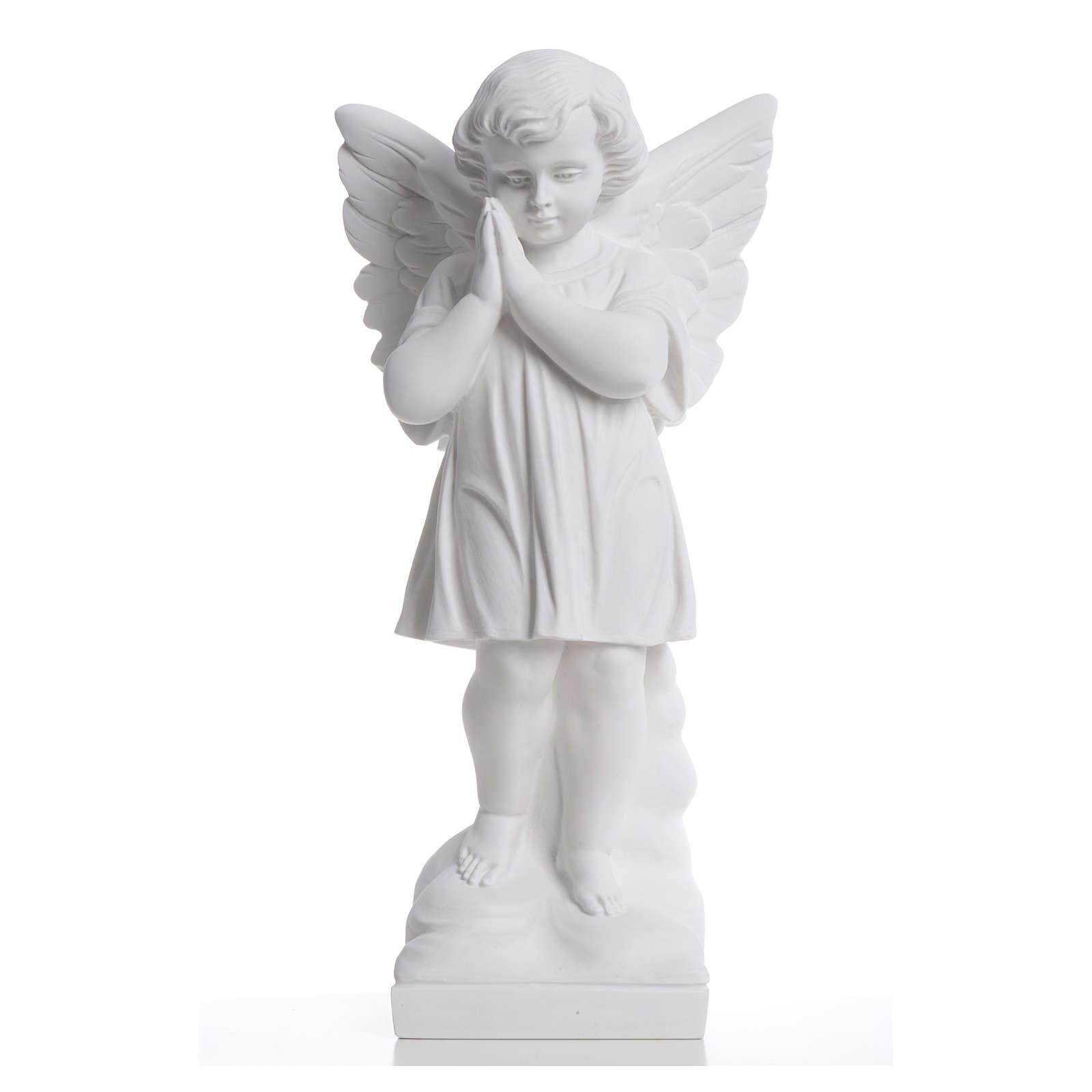 Angioletto mani giunte 40 cm polvere di marmo 4