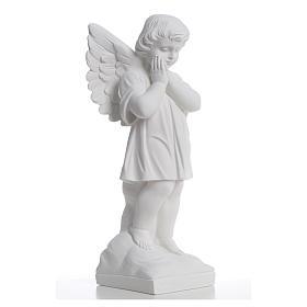 Angioletto mani giunte 40 cm polvere di marmo s8