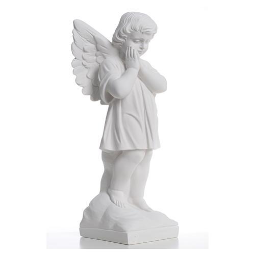 Angioletto mani giunte 40 cm polvere di marmo 8