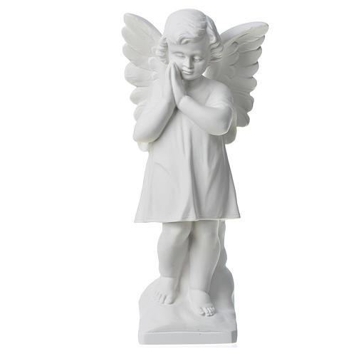 Ángel con manos juntas 30cm Mármol 1
