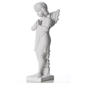 Angelo mani giunte marmo bianco Carrara 45 cm s6
