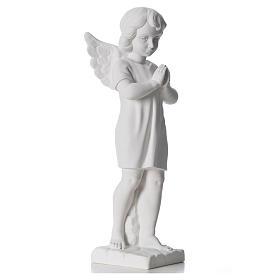 Angelo mani giunte marmo bianco Carrara 45 cm s8
