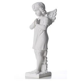 Angelo mani giunte marmo bianco Carrara 45 cm s2