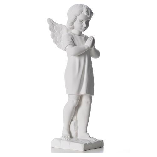 Angelo mani giunte marmo bianco Carrara 45 cm 8