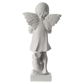 Angel with hand over heart, 30 cm reconstituted marble statue s6