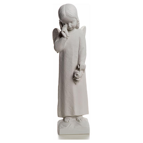 Crying Angel statue in Composite Marble, 50 cm 4