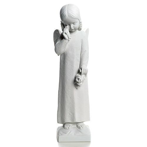 Ange qui pleure marbre 50 cm statue extérieur 1