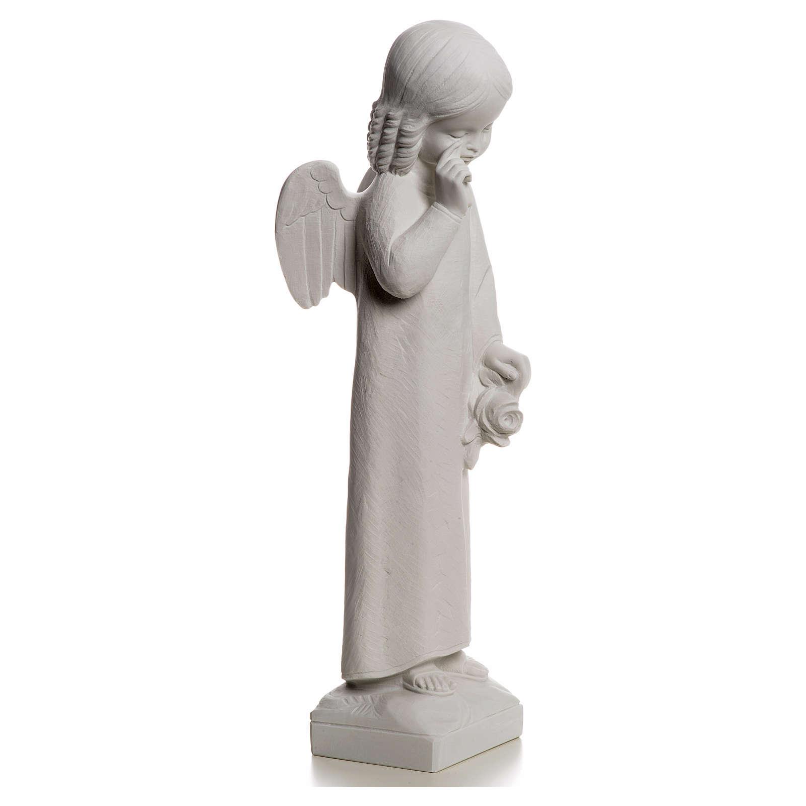 Angelo in lacrime 50 cm polvere di marmo 4