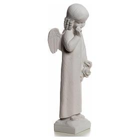 Angelo in lacrime 50 cm polvere di marmo s5