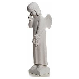 Angelo in lacrime 50 cm polvere di marmo s6