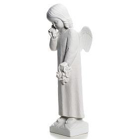 Angelo in lacrime 50 cm polvere di marmo s3