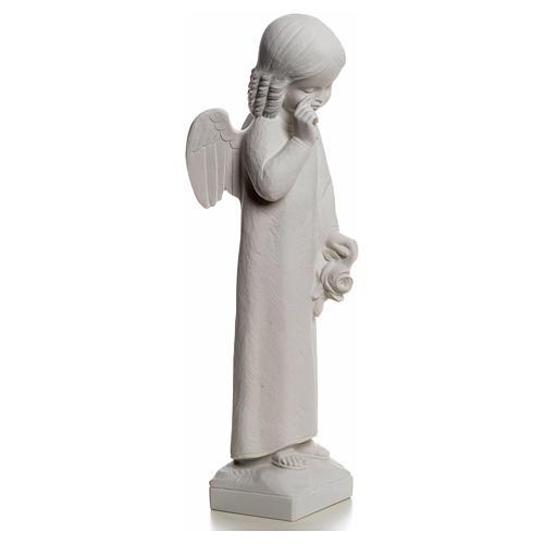Angelo in lacrime 50 cm polvere di marmo 5