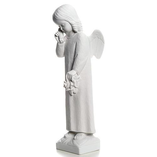 Angelo in lacrime 50 cm polvere di marmo 3