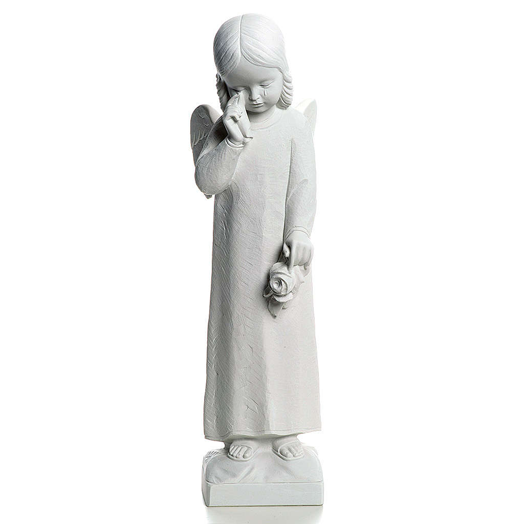 Crying Angel statue in reconstituted Marble, 50 cm 4