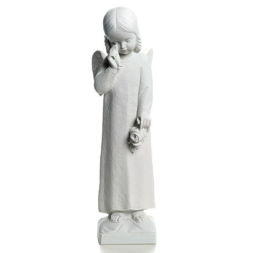 Crying Angel statue in reconstituted Marble, 50 cm 1