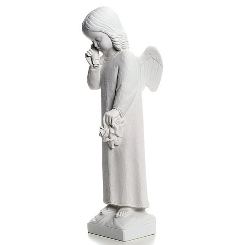 Crying Angel statue in reconstituted Marble, 50 cm 3