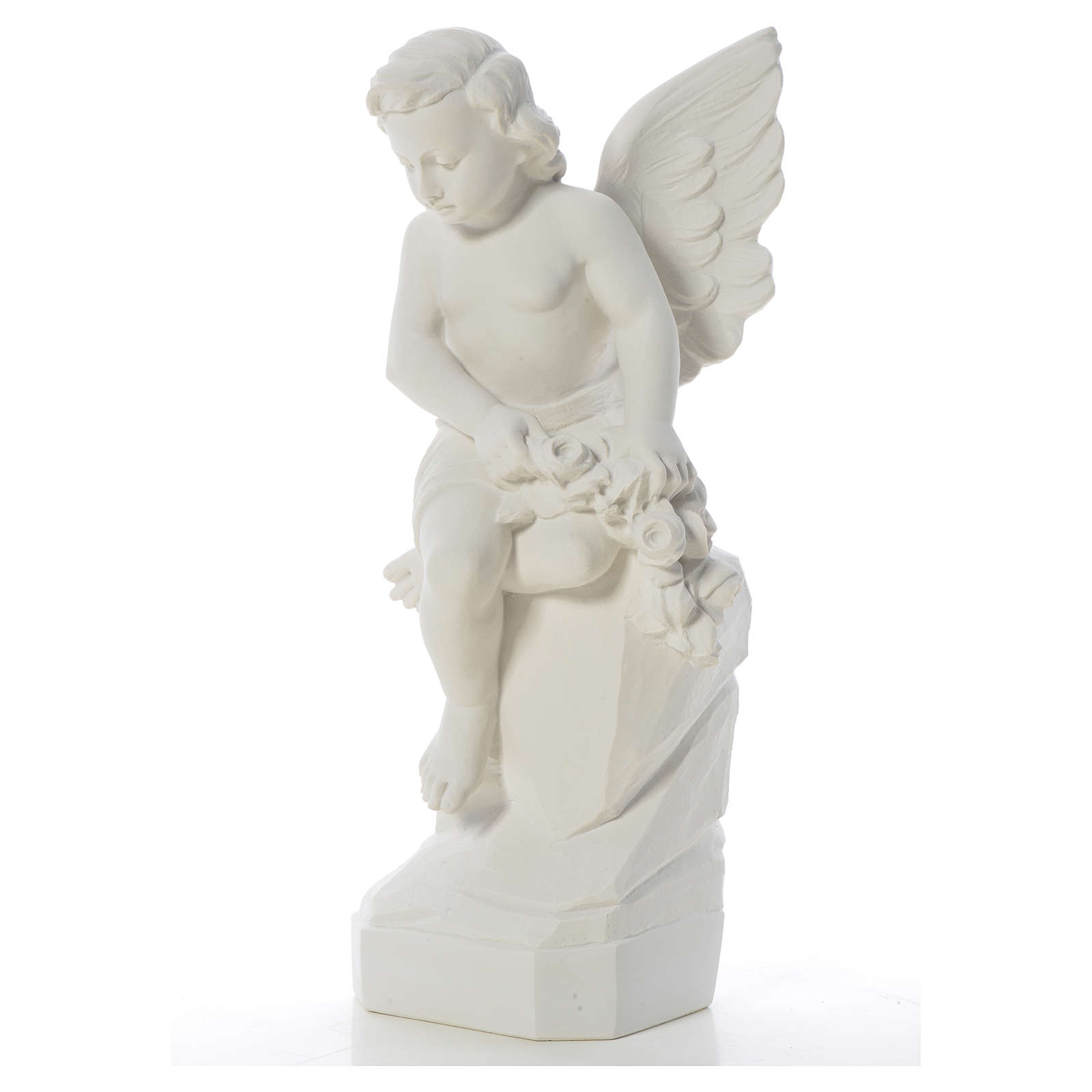 Sitting Angel statue made of reconstituted marble, 45 cm 4
