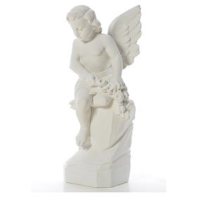 Sitting Angel statue made of reconstituted marble, 45 cm s6