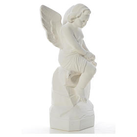 Sitting Angel statue made of reconstituted marble, 45 cm s8