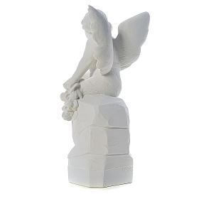Sitting Angel statue made of reconstituted marble, 45 cm s3