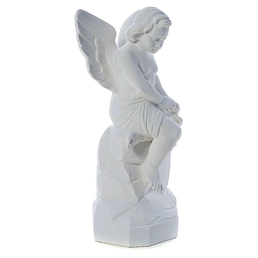 Ángel sentado 45 cm polvo de mármol 4