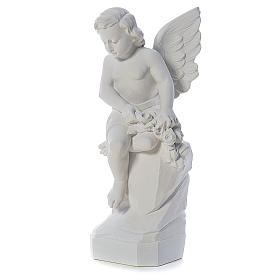 Ángel sentado 45 cm polvo de mármol s2