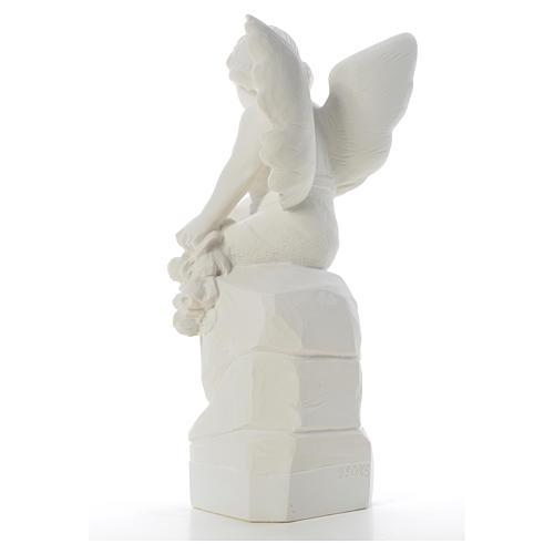 Ange assis marbre 45 cm statue extérieur 7