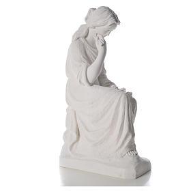 Addolorata 80 cm polvere di marmo s8